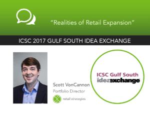 VonCannon at ICSC Gulf South Idea Exchange