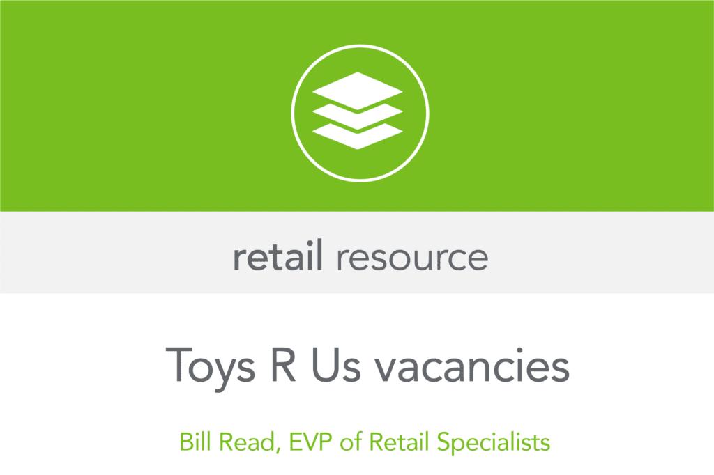 Toys R Us vacancies