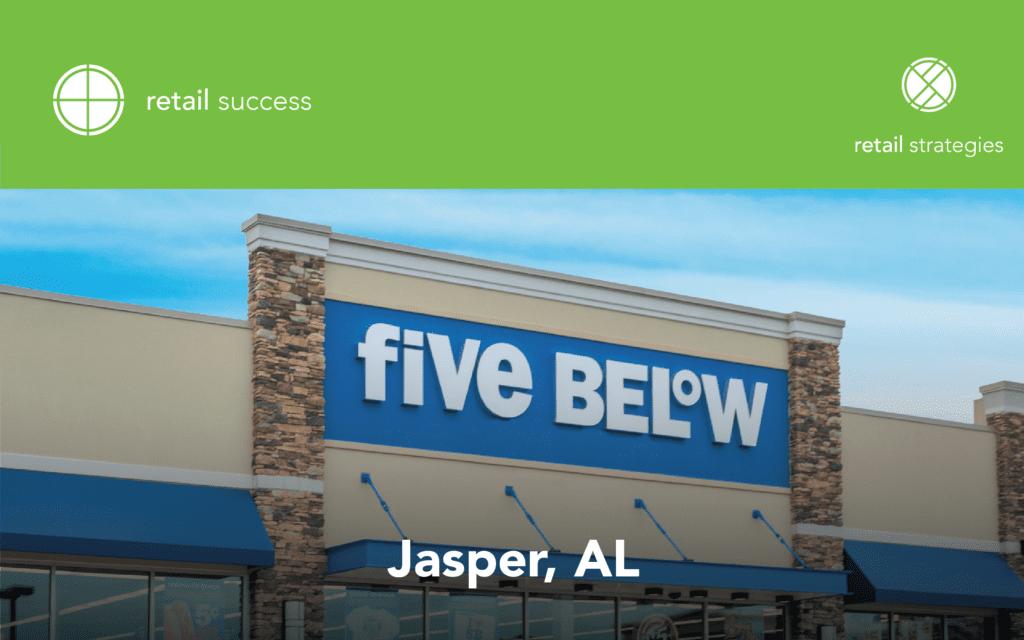 five below jasper alabma