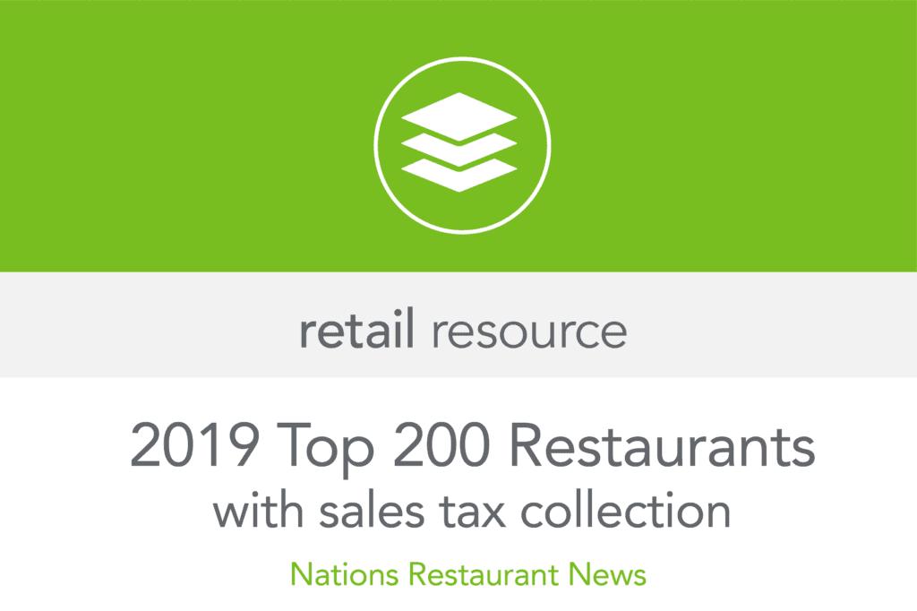 retail resources top 200 restaurants 2019