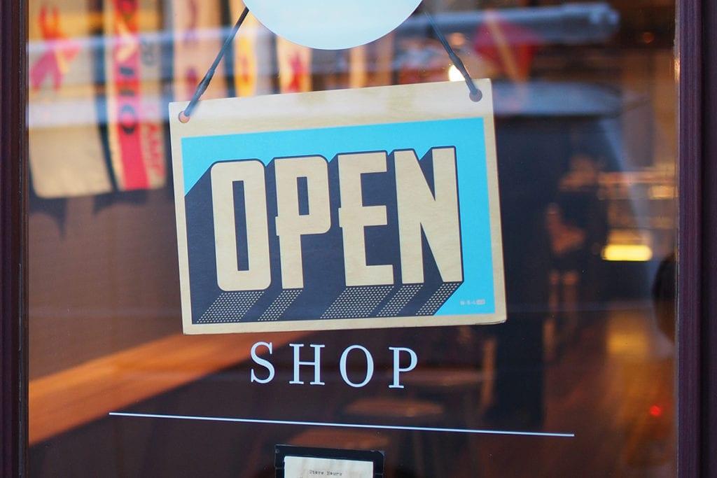 open shop store