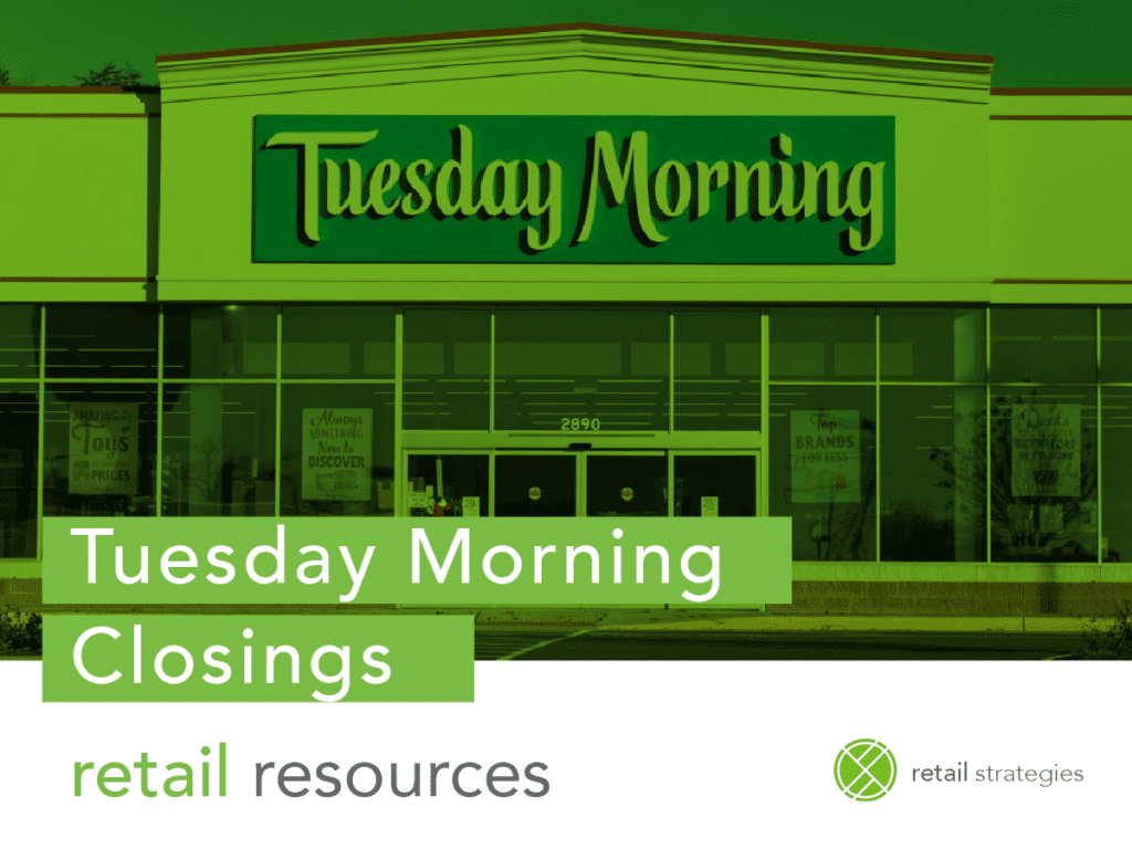 Tuesday Morning Files Bankruptcy